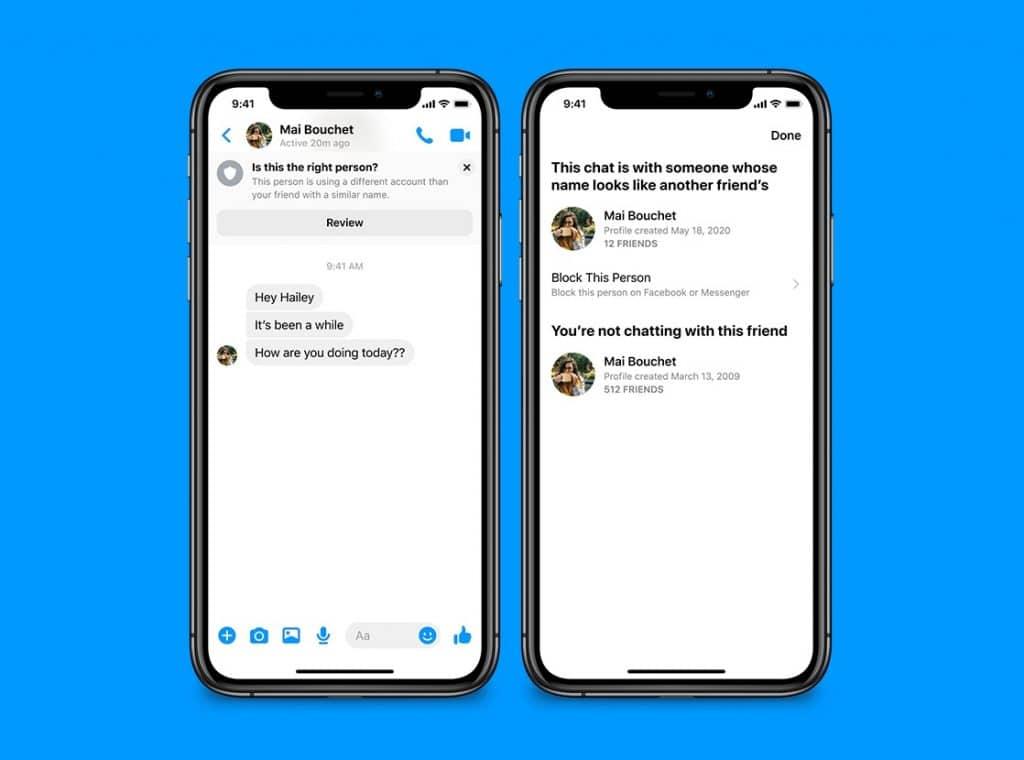 Facebook messenger sahtekar uyarısı