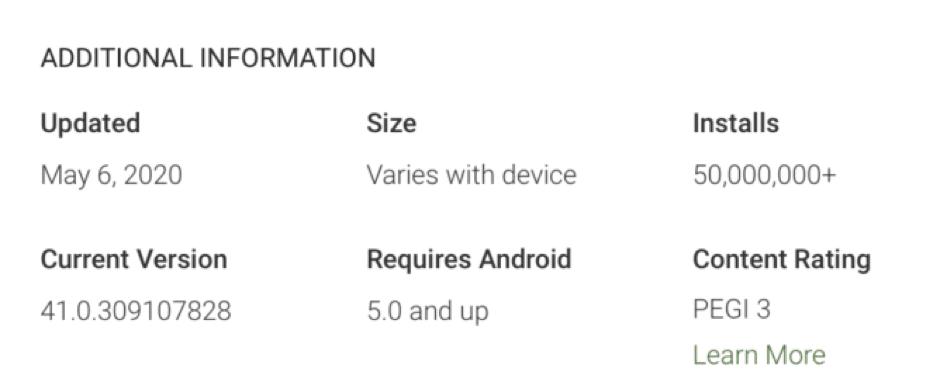 Google Meet Yüklenme Sayısı