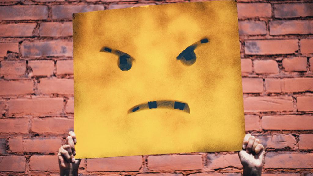 nefret söylemi sembolize eden pankart