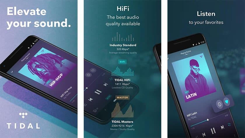 android için müzik platformu tidal