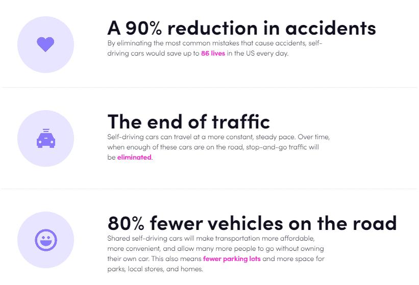 Lyft sürücüsüz araçlar için hedefleri