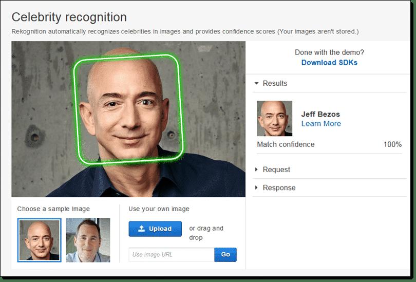 Amazon Rekognition Uygulama Görseli