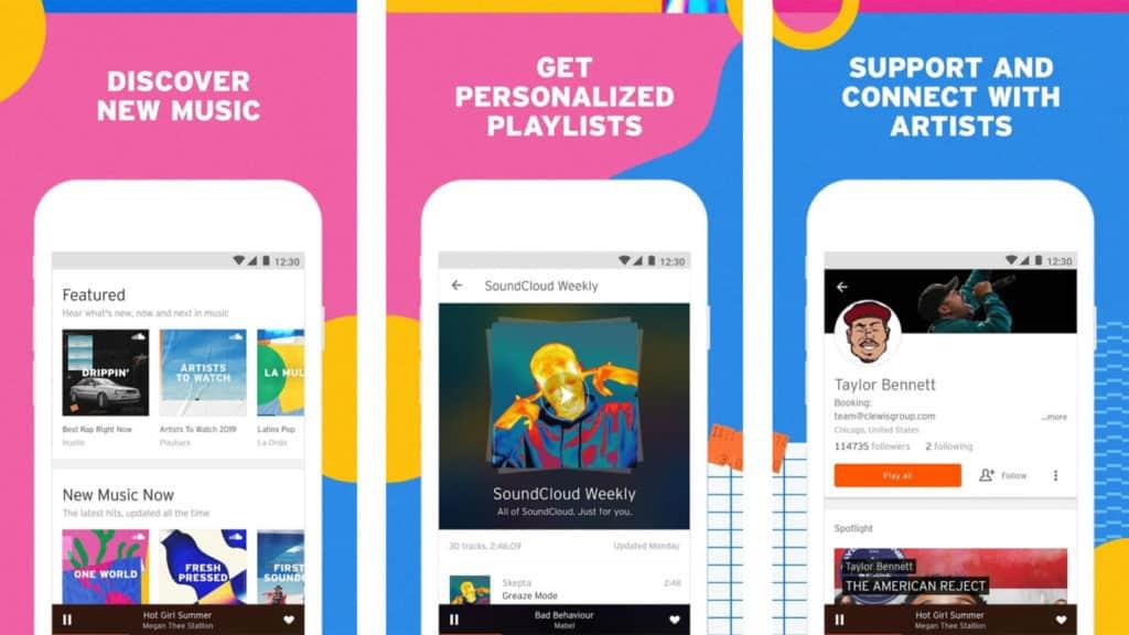 android için müzik platformu soundcloud