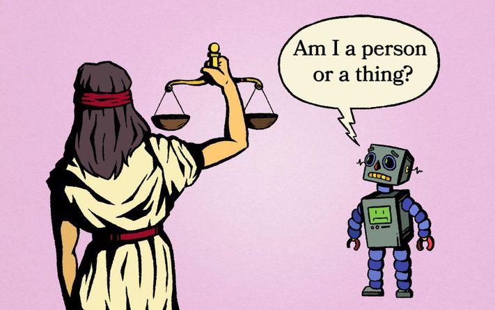Yapay zeka hukuken kişi mi eşya mı?