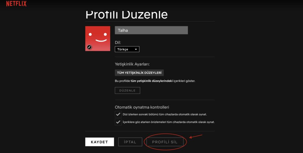 Profil düzenle sayfası