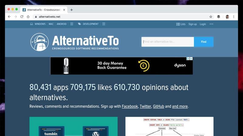 Boş Zamanlarınızı Değerlendirmek İçin 10 Site alternativeto