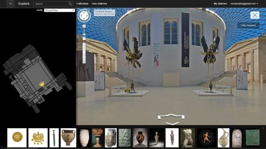 british müzesinin sanal müze görseli