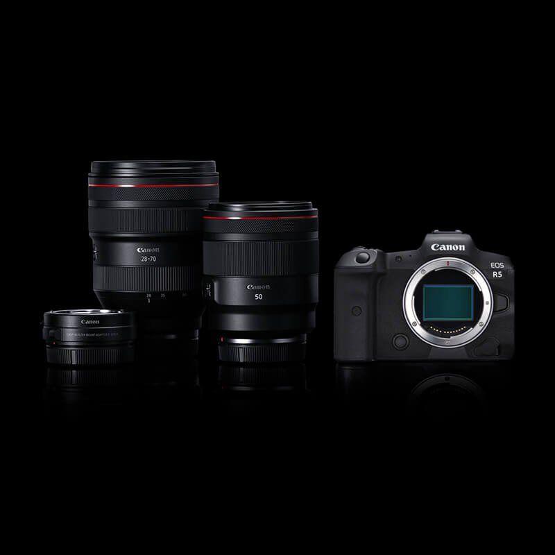 Canon EOS r5 ve lensleri