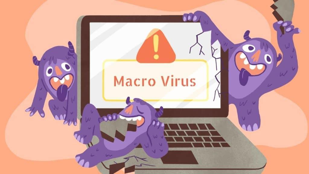 macro virüs animasyonu