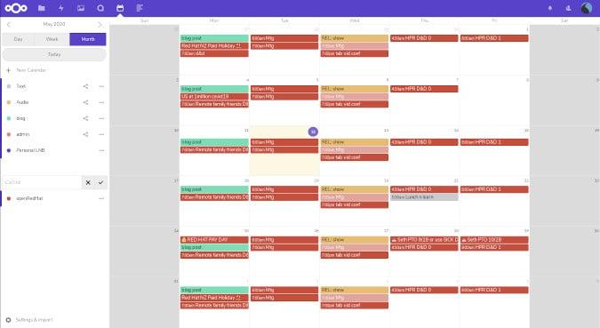 popüler-açık kaynaklı-Google-Takvim-alternatifleri-nextcloud