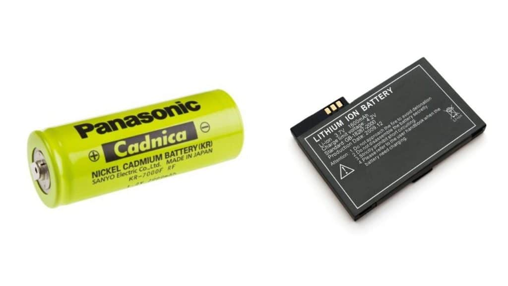 lityum iyon pil ve nikel kadmiyum pil. hızlı şarj için lityum iyon pil.