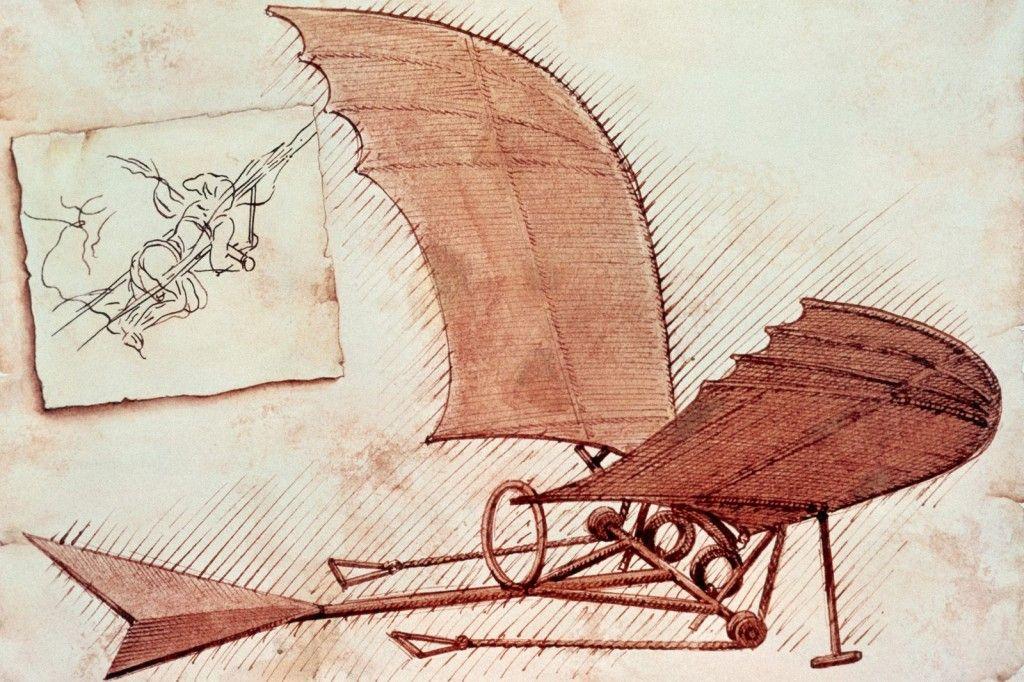 Leonardo Da Vinci'nin Buluşları ve ornitopher çizimi