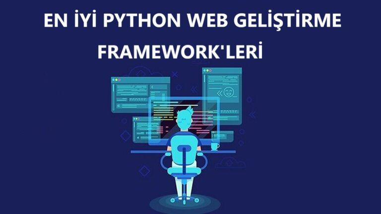 python web geliştirme framework'ü