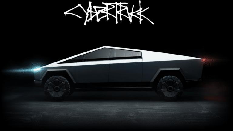 tesla cybertruck arabası