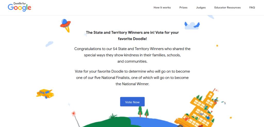 Artık Google Doodle İçin Oy Verebileceğiz