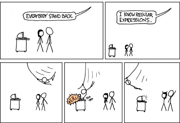 regex hakkında bir karikatür
