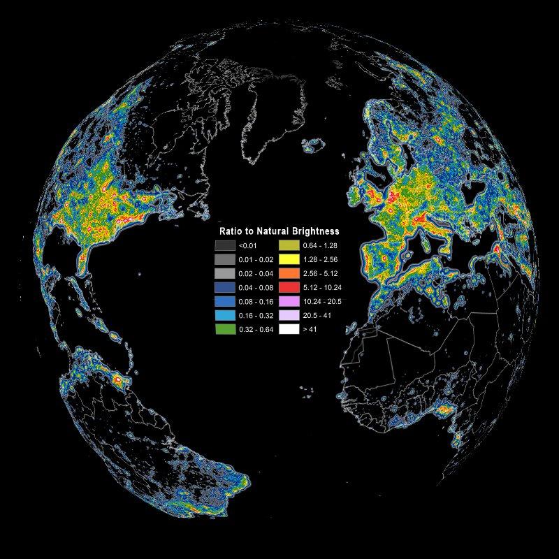 ışık kirliliği dünya atlası