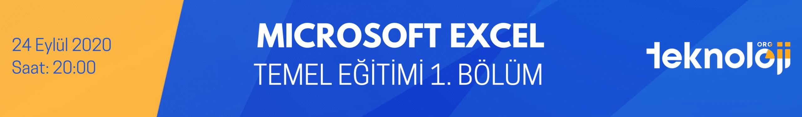 Microsoft Excel Temel Eğitimi 1. Bölüm