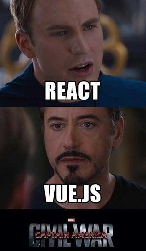 vue js vs react