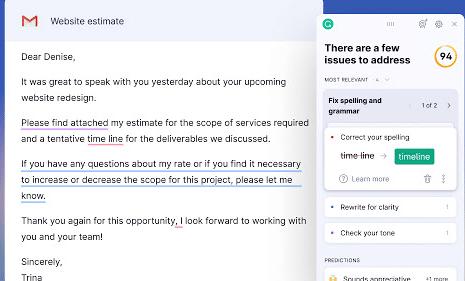Grammarly for Chrome - Google Chrome Eklentileri
