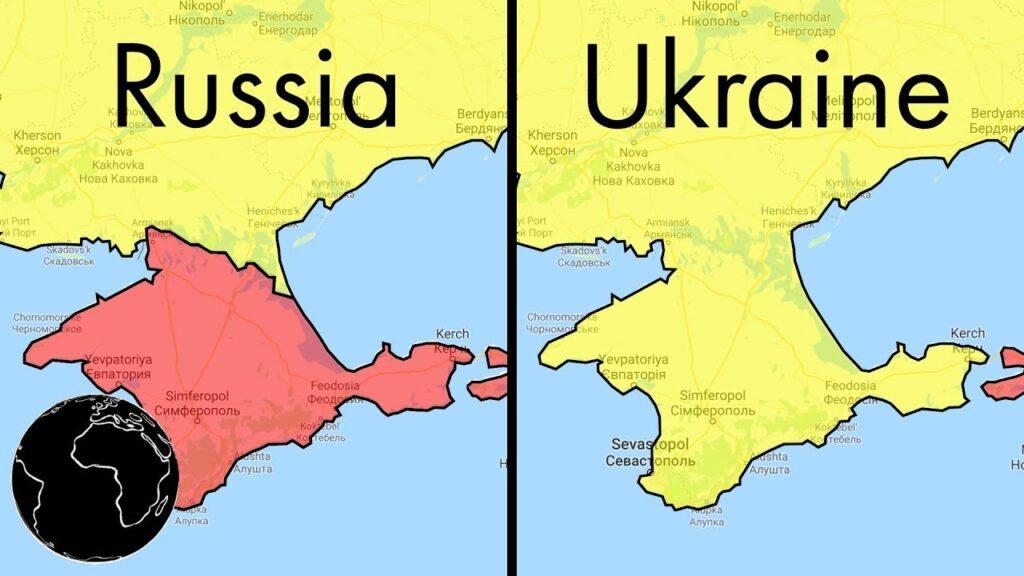 Rusya ve Ukrayna Arasında Farklı Gösterilen Sınırlar