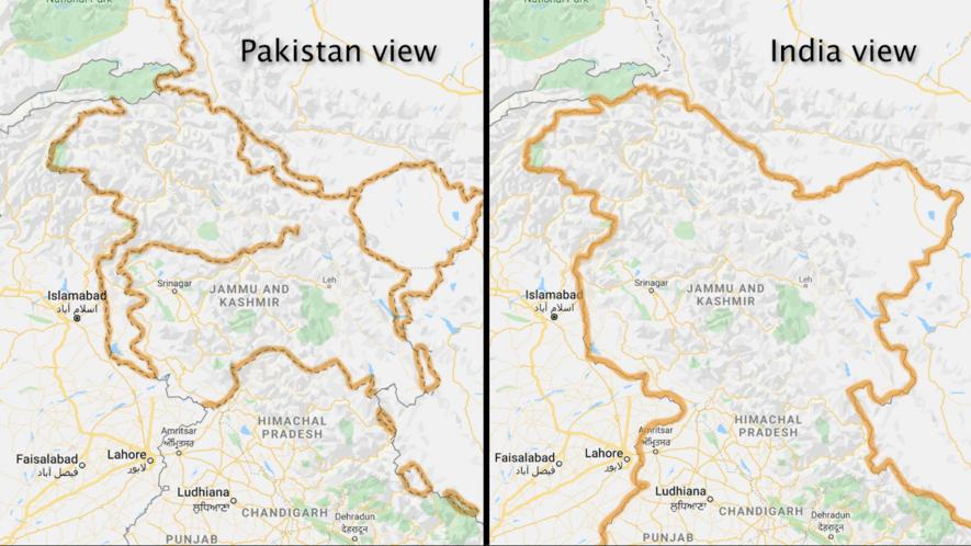 Pakistan ve Hindistan'a göre Farklılık Gösteren Sınırlar