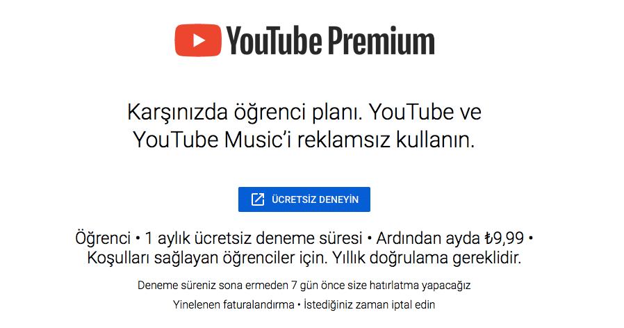 youtube-premium-öğrenci-üyeliği