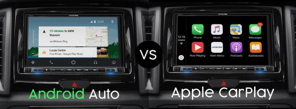 Android Auto ve Apple CarPlay Arayüzleri