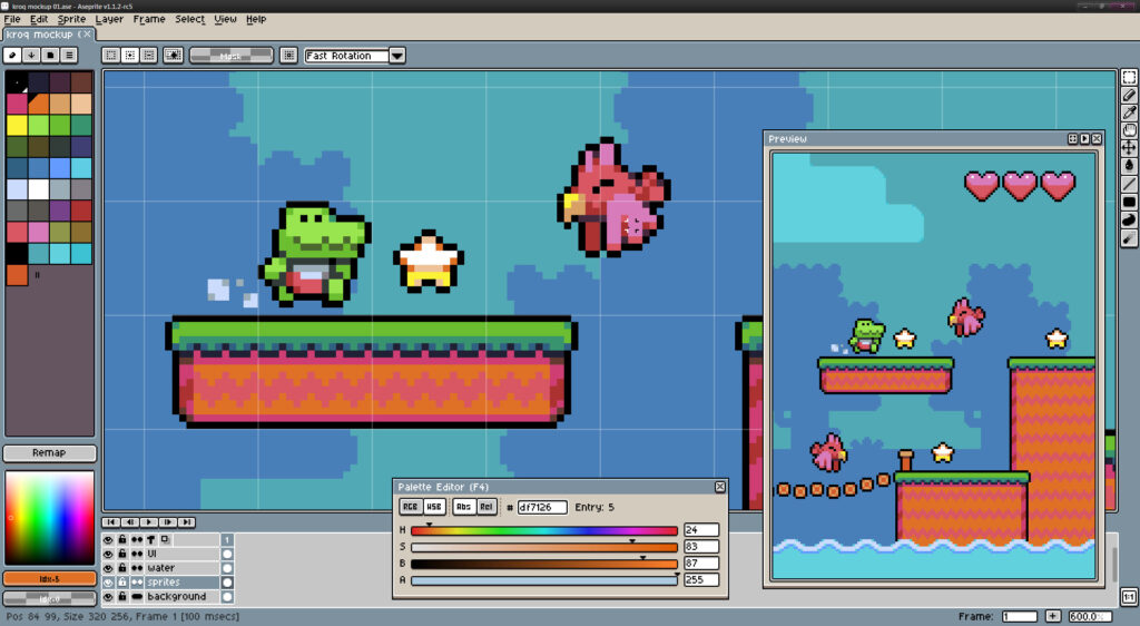 Pixel çizim programları: Aseprite