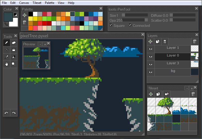 Pyxel Edit - pixel art programları