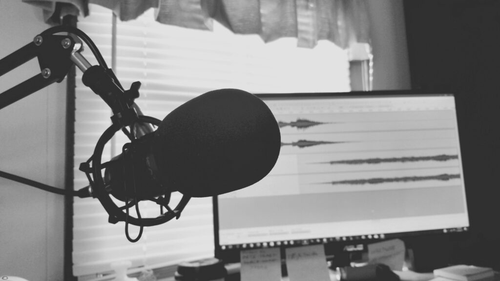 Temsili ses kayıt ve düzenleme işlemi. Mikrofon, Kayıt