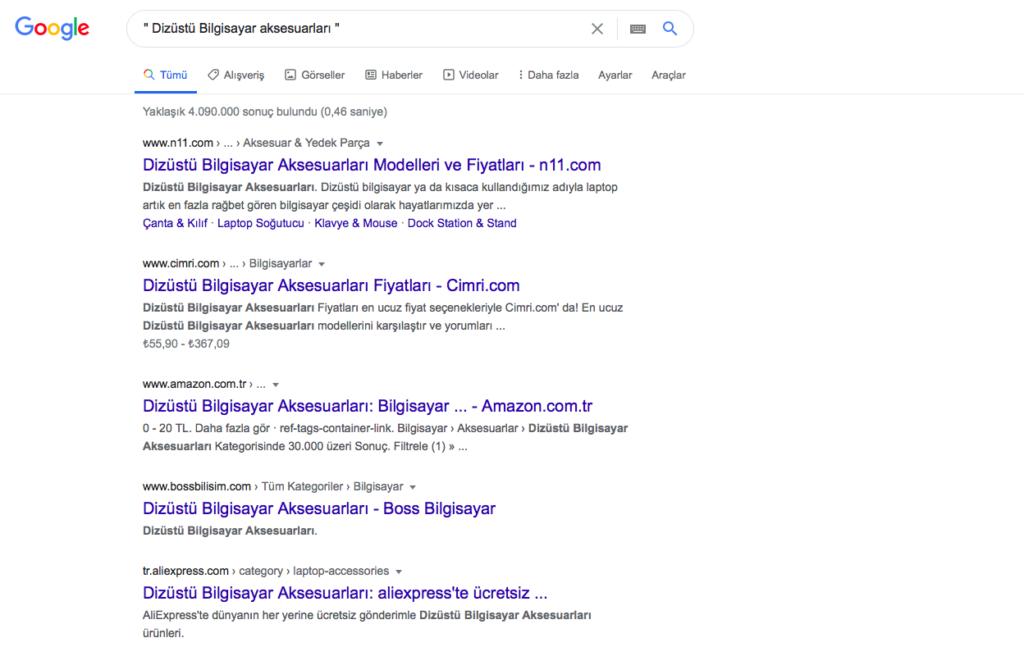 google-arama-motoru-tırnak-işareti
