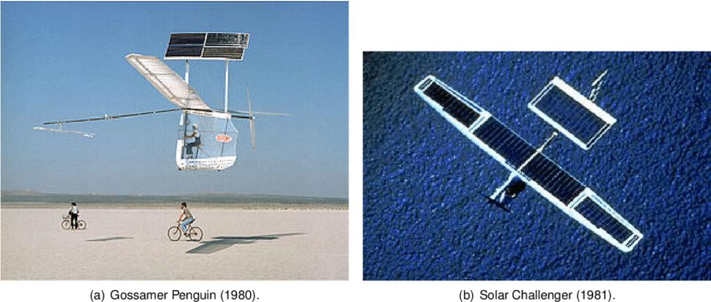 Gossamer Penguin ve Solar Challenger uçakları