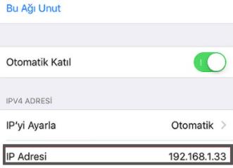 iPhone Cihazınızda IP Adresi Değiştirme