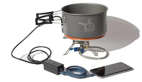 Termoelektrik etkinin kullanımına bir örnek olan The PowerPot