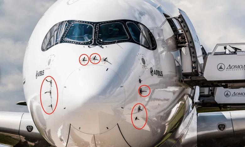 uçak üzerinde bulunan statik portlar