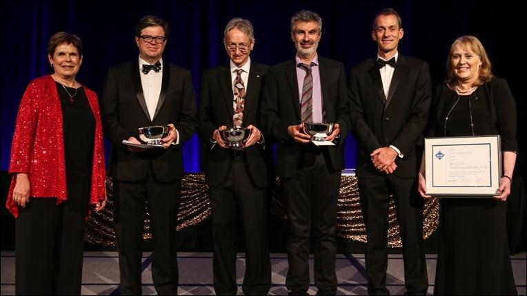 2018 Turing Ödülü sahipleri (ödülü alanların soldan sağa isimleri Yann LeCun, Geoffrey Hinton ve Yoshua Bengio)