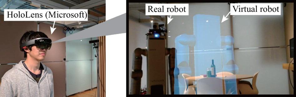 Öngörülmüş gerçeklik uygulamasında oluşan sanal görüntü