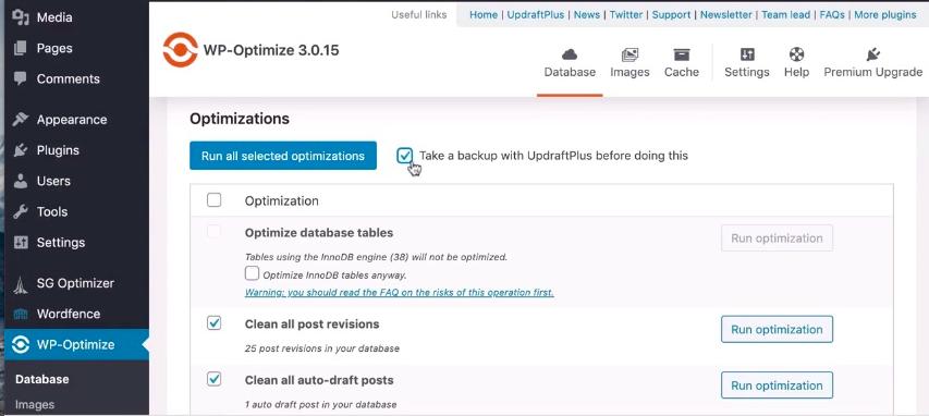 wordpress-site-hızlandırma-wp-optimize