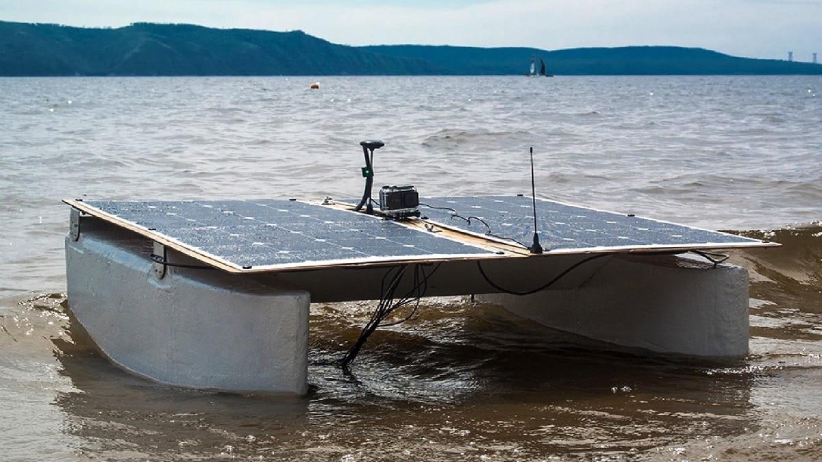 Drone On The Volga Su Kirlililiği Ölçümü