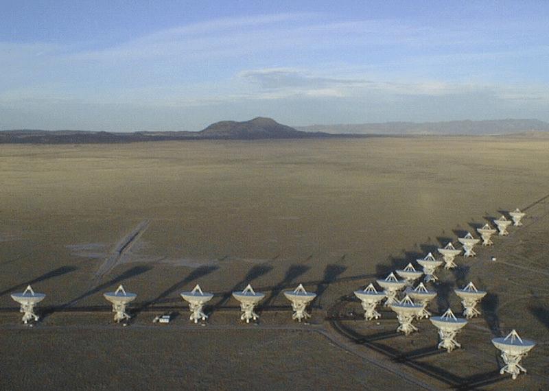 Birden fazla radyo teleskobun birleşmesiyle elde edilen dizi