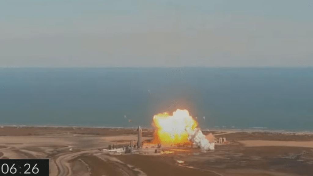 Starship-Roketi-patlama-anı
