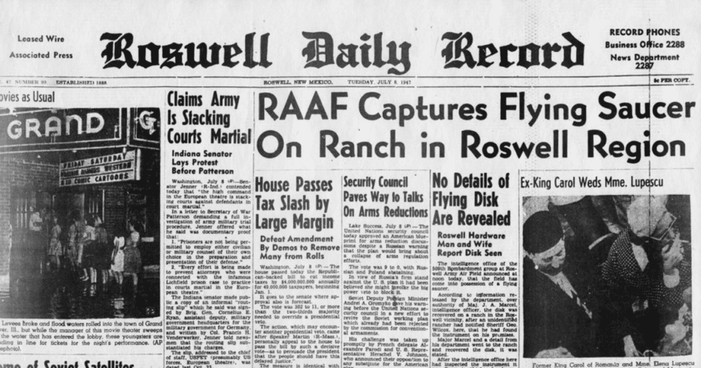 Roswell Gazetesi UFO Manşetleri