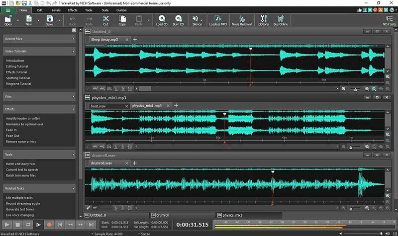 WavePad-ucretsiz-ses-duzenleme-programi