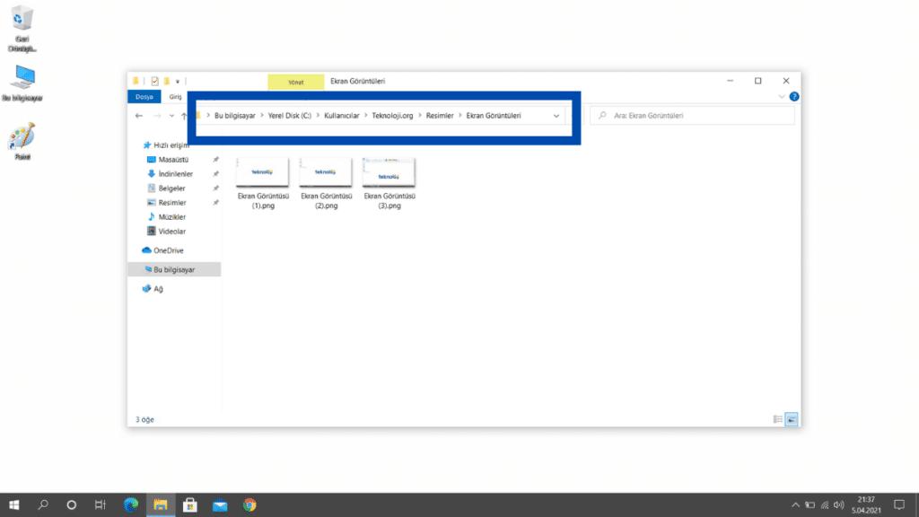 Windows-10-Ekran-Goruntusu-Alma-Dosya-Dizini