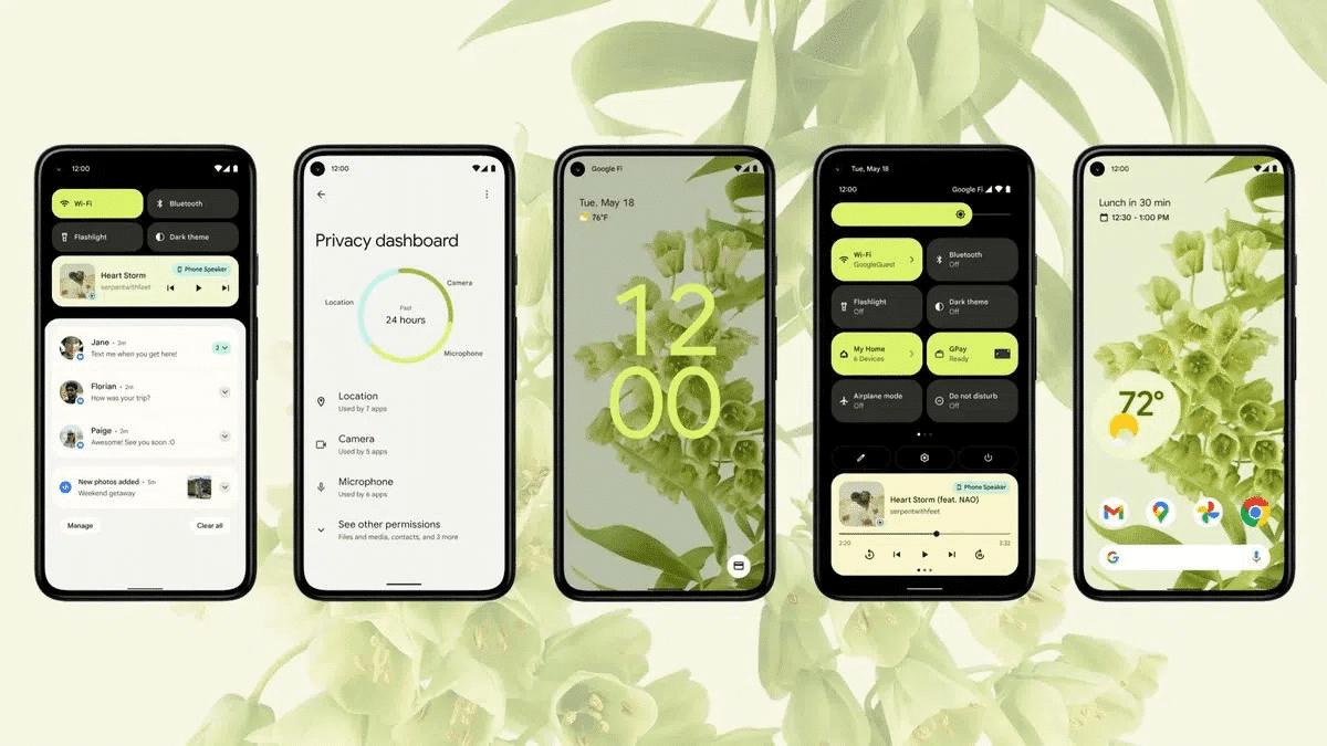 Android 12 Güncellemesi Alacak Telefonlar