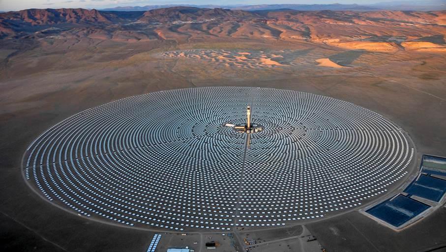 Crescent Dunes, Nevada güneş enerjisi çiftlikleri