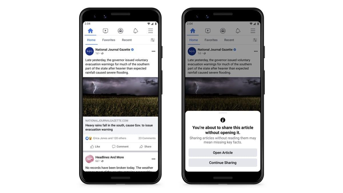 Facebook Haber Linkleri İçin Yeni Bir Özellik Geliştirdi