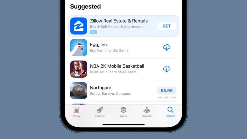 app-store-arama-ekran