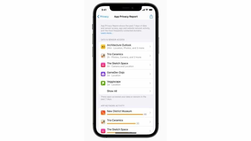 Apple uygulama gizlilik raporu ile çok daha fazla veri kullanıcılara sunuyor.